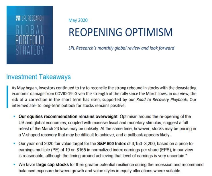 Global Portfolio Strategy   May 11, 2020